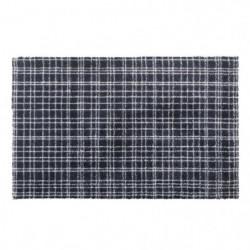 Tapis d?entrée FUSION DRY - Noir rayé gris clair - 60x100 cm