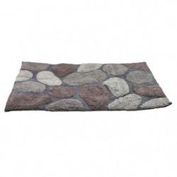 FRANDIS Tapis de bain - 100% coton - 50 x 80 cm - Galets gri
