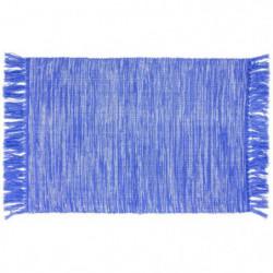 AMORGOS Tapis de bain - Coton - 50x70 cm - Bleu Majorelle