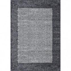 VEGA Tapis de salon Shaggy - 80 x 150 cm - Gris