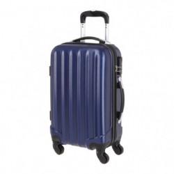 Valise en ABS Bleu 4 Roues 50x35x20 cm