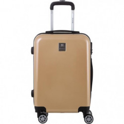 BERENICE Valise cabine 55cm avec 8 roues - Couleur Champagne