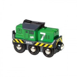 BRIO World  - 33214 - Locomotive De Fret A Pile