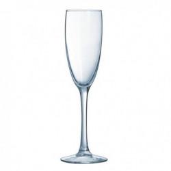 ARCOROC Boîte de 6 flutes a champagne Vina 19 cl transparent
