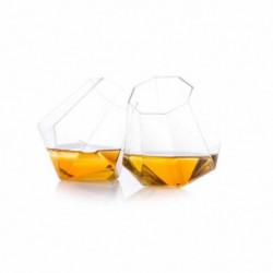 THUMBS UP Lot de 2 verres a whisky Diamond