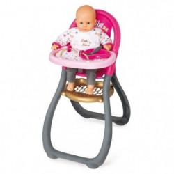 SMOBY Baby Nurse  Chaise Haute Poupon + 2 Acs
