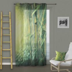 SOLEIL D'OCRE Voilage a oeillets Bambou - 140x260 cm - Vert