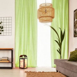 Voilage Premium Coton - 110 x 250 cm - Vert