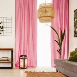 Voilage Premium Coton - 110 x 250 cm - Rose Fuchsia