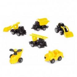 VIKINGTOYS Baril 20 véhicules chubbies construction - 7 cm