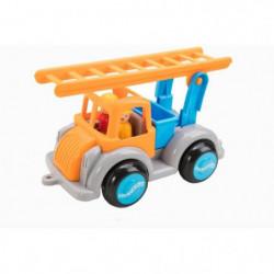 VIKINGTOYS Camion échelle - Orange et bleu - 25 cm