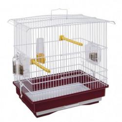 GIUSY Cage pour oiseaux rouge et blanc