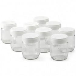 LAGRANGE Lot de 9 pots yaourtiere - 430301 - 185 g - Transpa