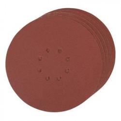 SILVERLINE Lot de 10 disques auto-agrippants perforés 225mm