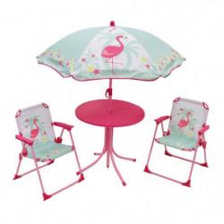 FUN HOUSE 713088 FLAMANT ROSE Salon de jardin avec une table