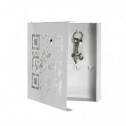 Boîte a Clés en métal laqué blanc - 22 x 5 x 24 cm
