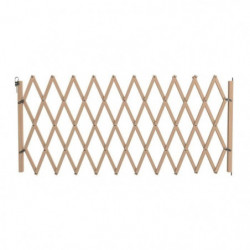 VADIGRAN Barriere en bois accordéon - 60-230 cm - Brun