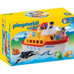 PLAYMOBIL 1.2.3 6957 Navire transportable