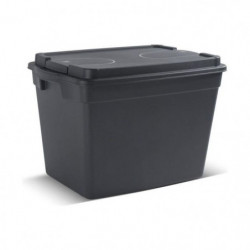 KIS Boîte de rangement - Taille L - 60 L - Noir