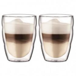BODUM PILATUS Set 2 verres double paroi 0.25 l Transparent