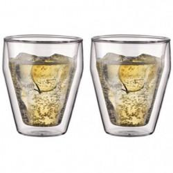 BODUM TITLIS Set 2 verres double paroi empilable 0,25L
