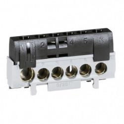 Legrand Bornier de phase 5 bornes pour câble 6 a 25 mm2