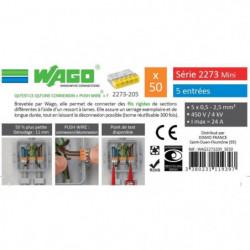 WAGO Seau 50 bornes - 2273 - 5 entrées