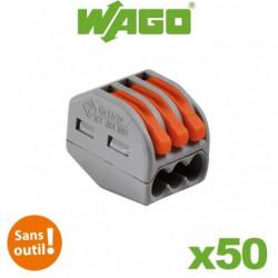 WAGO Pack de 50 Bornes de connexion automatique S222 3 entrées