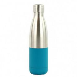 YOKO DESIGN Bouteille isotherme Duo - Bleu canard et inox