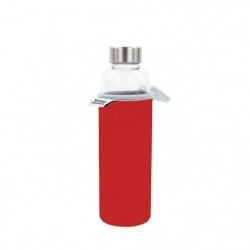 YOKO DESIGN Glass bottle avec pochette néoprene - Rouge