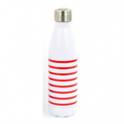 YOKO DESIGN Bouteille isotherme Mariniere - Rouge - 500 ml