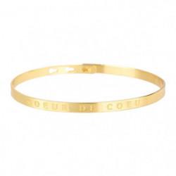 """BAM - Bracelet """"Soeur de Coeur"""" Laiton doré - Femme"""