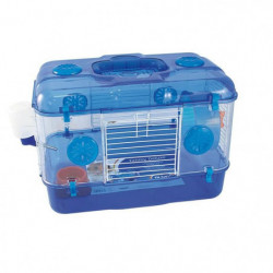DUVO Cage Timmy One Level Deluxe - 39x26x28 cm - Bleu