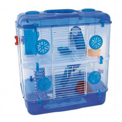 DUVO Cage Tess Two Level Deluxe - 39x33x44 cm - Bleu