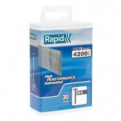 RAPID 4200 pointes n°8 Rapid Agraf 30mm