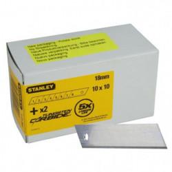 STANLEY 10x10 lames de cutters 18mm