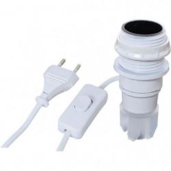 TIBELEC Kit adaptateur bouteille équipé E14 blanc