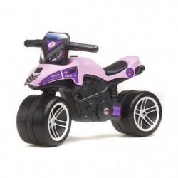 FALK Porteur Moto Racing Team - Rose et violet