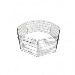 POILS & PLUMES Enclos Bunny 2 en acier 1,20x1,20x0,6 m