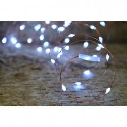 Guirlande micro-LED - 7,5 m - Blanc pur - 150 LED
