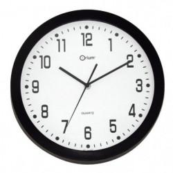 QUIET Horloge Quartz silencieuse  Ø30cm - Noire