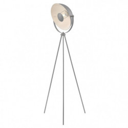 MOVIE Lampadaire trépied - H 148 cm - Tete : Ø 35 cm - Gris