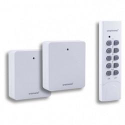 SMARTWARES Pack Smarthome 2 prises sans fil avec télécommande