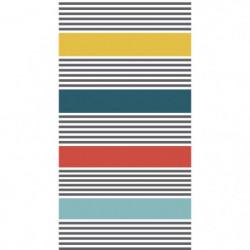 TODAY Drap de Plage 100% Coton 90x170 cm - Bleu et jaune