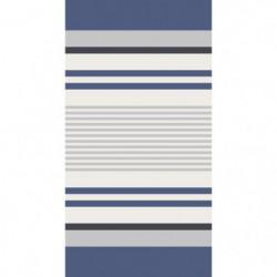 TODAY Drap de Plage 100% Coton 90x170 cm - Jaune et bleu