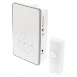 KONIG Sonnette sans fil MP3 avec batterie 80 dB blancet gris