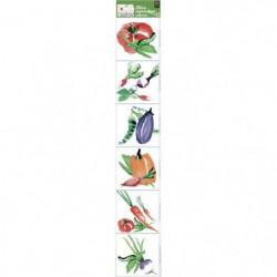 PLAGE  Sticker déco carrelage - Aquarelle6 planches 15x15