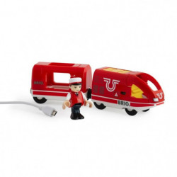 BRIO World  - 33746 - Train De Voyageur Rechargeable