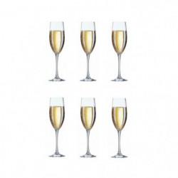ARCOROC CARBENET Lot de 6 flûtes a champagne 16 cl