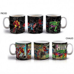 Mug thermo-réactif Marvel: Super-héros